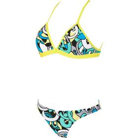 arena Cores Two Pieces Bikini Women black/soft green/multi